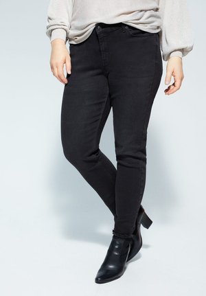 ANDREA - Slim fit jeans - black denim