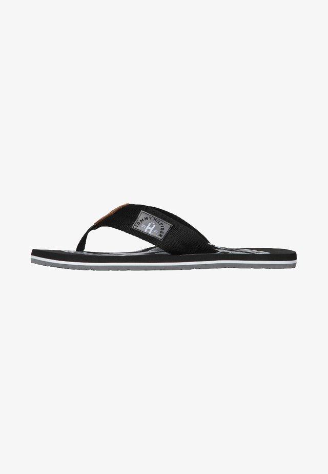 HERREN - Sandály s odděleným palcem - black