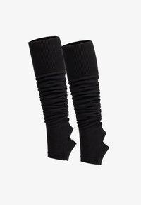Pletené návleky na lýtka - black