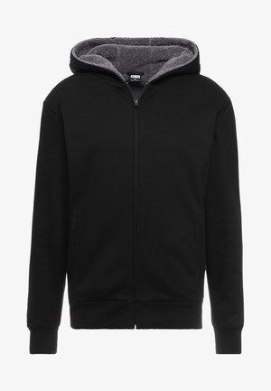 SHERPA LINED ZIP HOODY - Huvtröja med dragkedja - black/grey