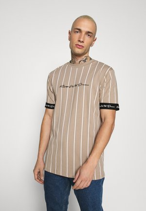 CLIFTON - Print T-shirt - light brown/white