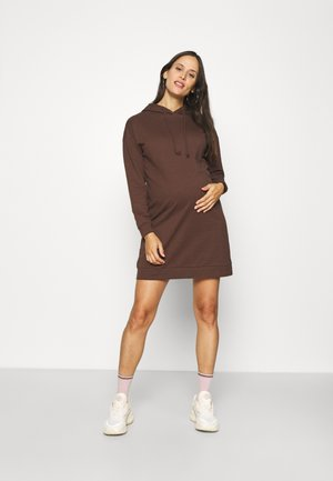 VMMOCTAVIA HOODIE DRESS - Robe d'été - chocolate brown