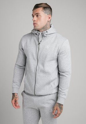 SIKSILK ZIP THROUGH FUNNEL NECK HOODIE - Felpa aperta - grey marl