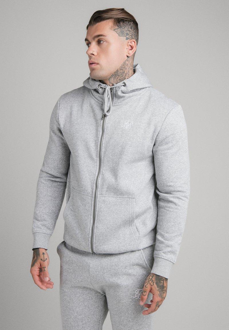 SIKSILK - SIKSILK ZIP THROUGH FUNNEL NECK HOODIE - Hoodie met rits - grey marl