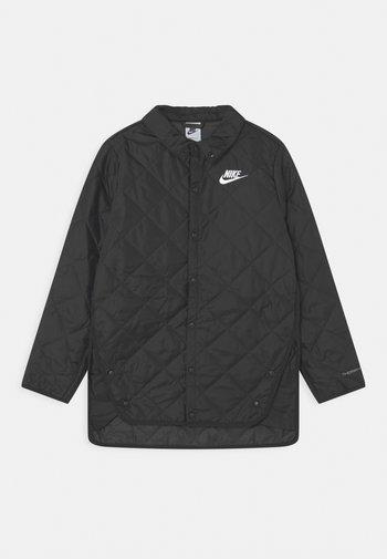 SYNFIL BAFFLED UNISEX - Light jacket - black/dark smoke grey/white