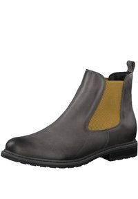Tamaris - Classic ankle boots - grey lea/saff. - 2