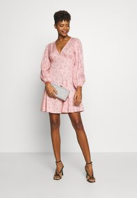 New Look - HEART SEAM DETAIL MINI - Denní šaty - black pattern - 1