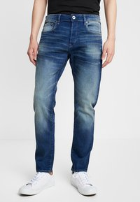 G-Star - 3301 SLIM - Slim fit jeans - joane stretch denim worker blue faded - 0