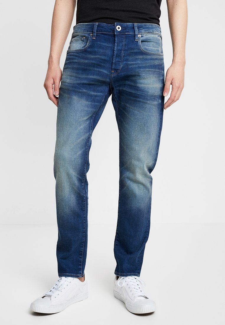 G-Star - 3301 SLIM - Slim fit jeans - joane stretch denim worker blue faded