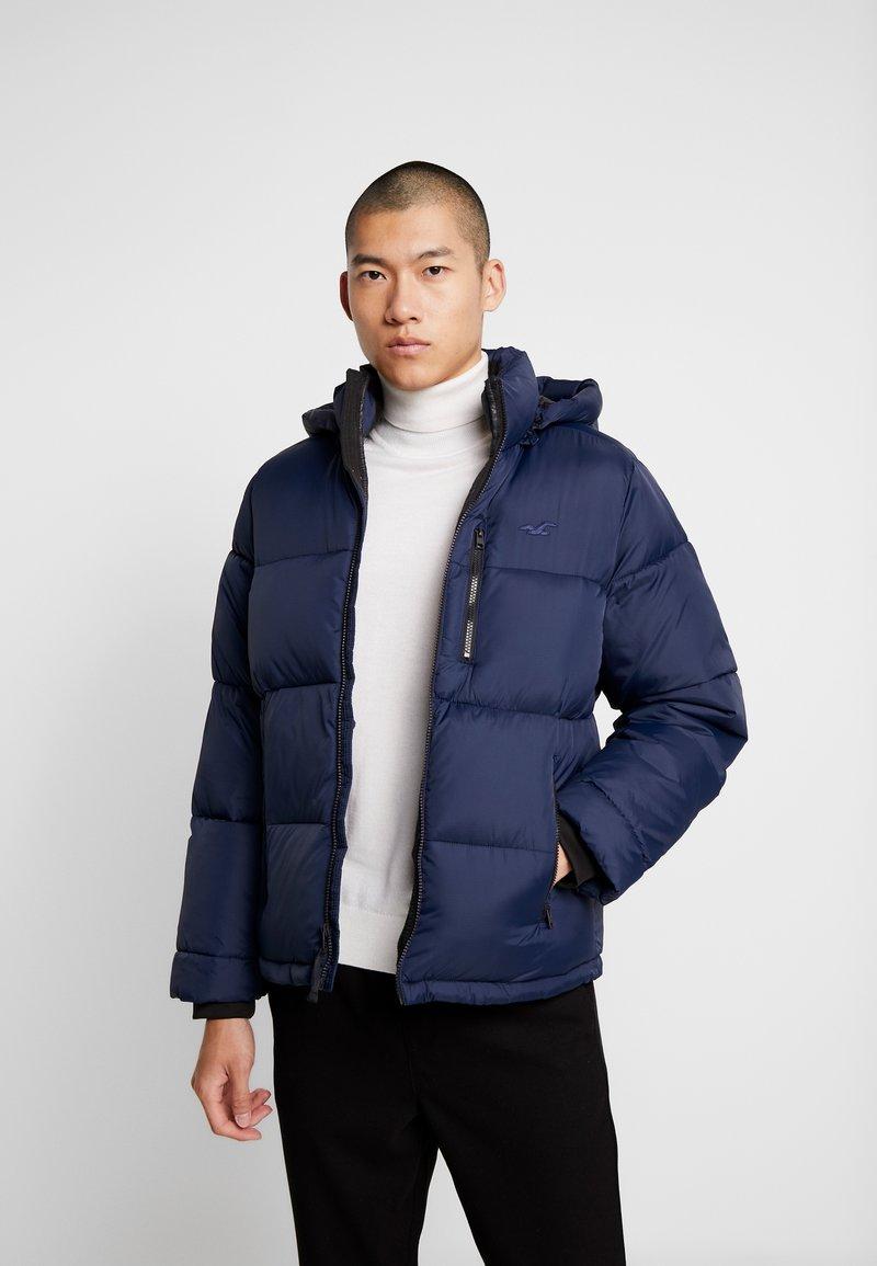 Hollister Co. - PUFFER HOOD  - Winter jacket - navy