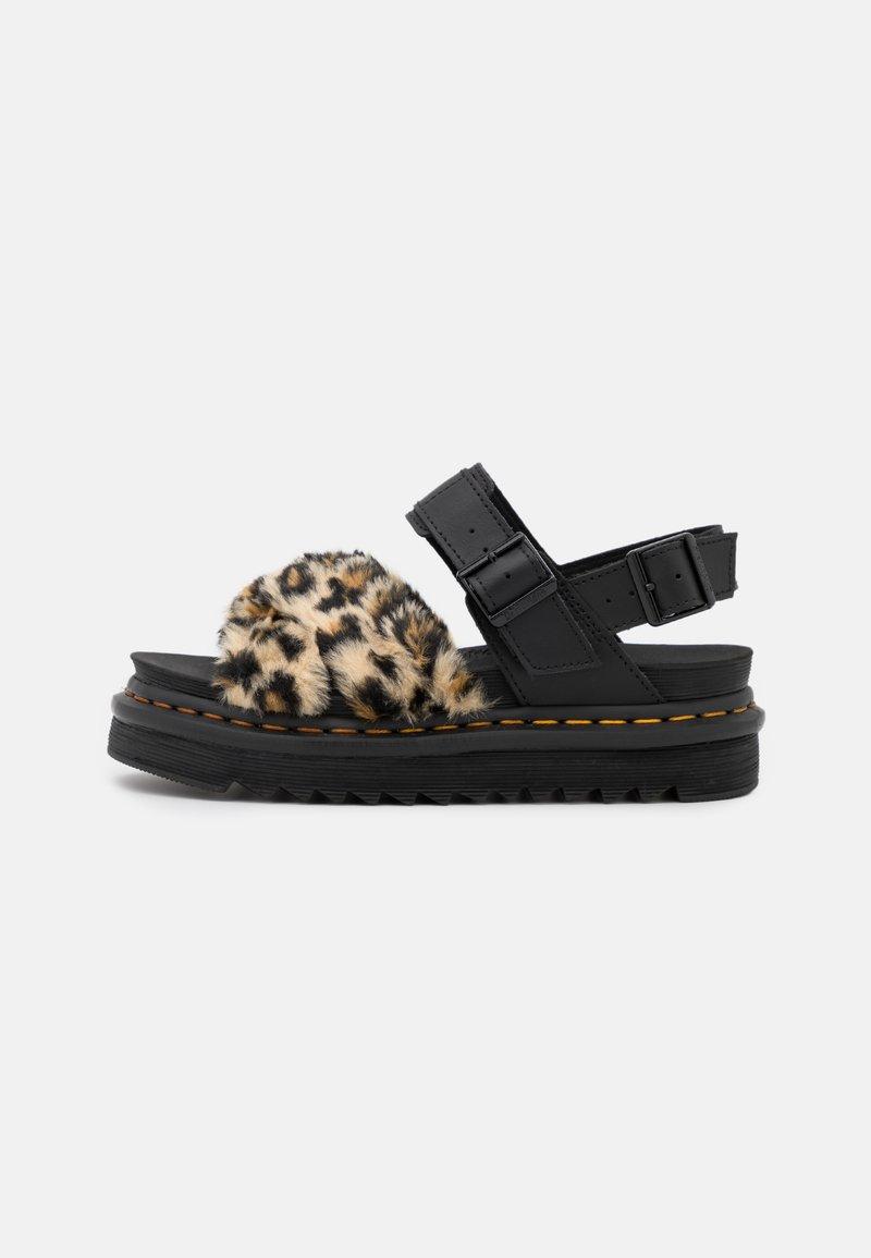 Dr. Martens - VOSS FLUFFY - Platform sandals - tan/black