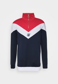 SIKSILK - RETRO QUARTER ZIP OVERHEAD TRACK  - Sweatshirt - navy/red/white - 3