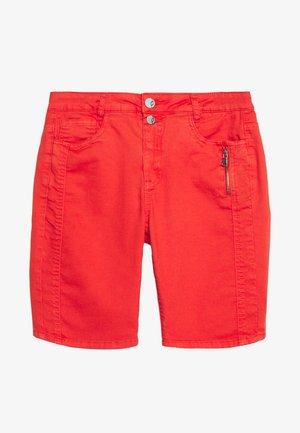 Jeans Short / cowboy shorts - cherry tomato