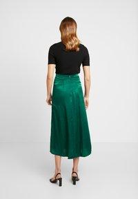 Topshop - PLAIN AUSTIN - Áčková sukně - green - 2