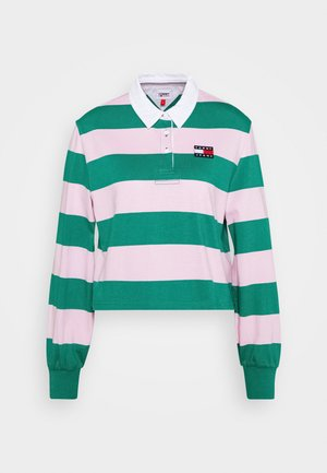 RUGBY  - Long sleeved top - midwest green/romantic pink