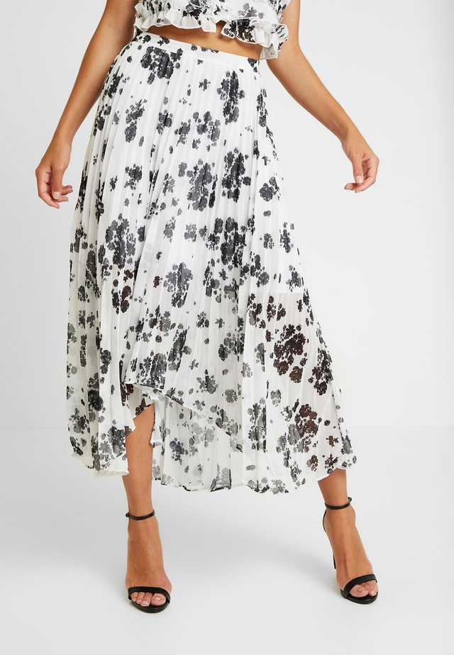 UNQUE SKIRT - Gonna a pieghe - ivory