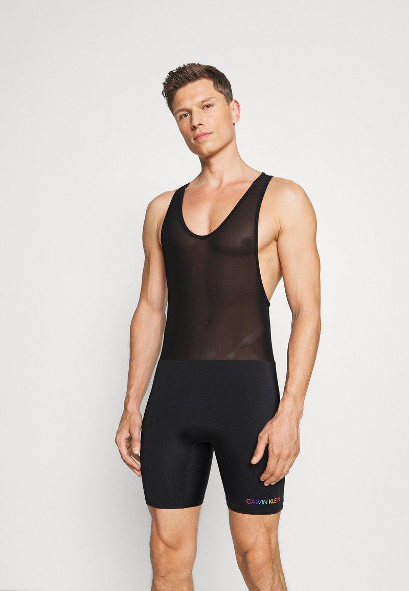 Calvin Klein Swimwear - PRIDE BODYSUIT - Swimming shorts - black