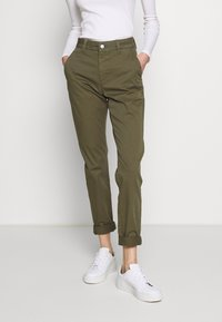 Selected Femme - SLFMEGAN - Chinos - olive night - 0