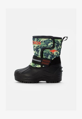 SHELL - Winter boots - olive/dinos