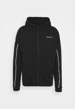 PIPING HOODIE - Zip-up sweatshirt - black