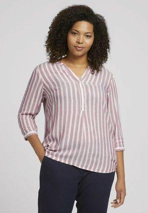 Blouse - light berry white stripe