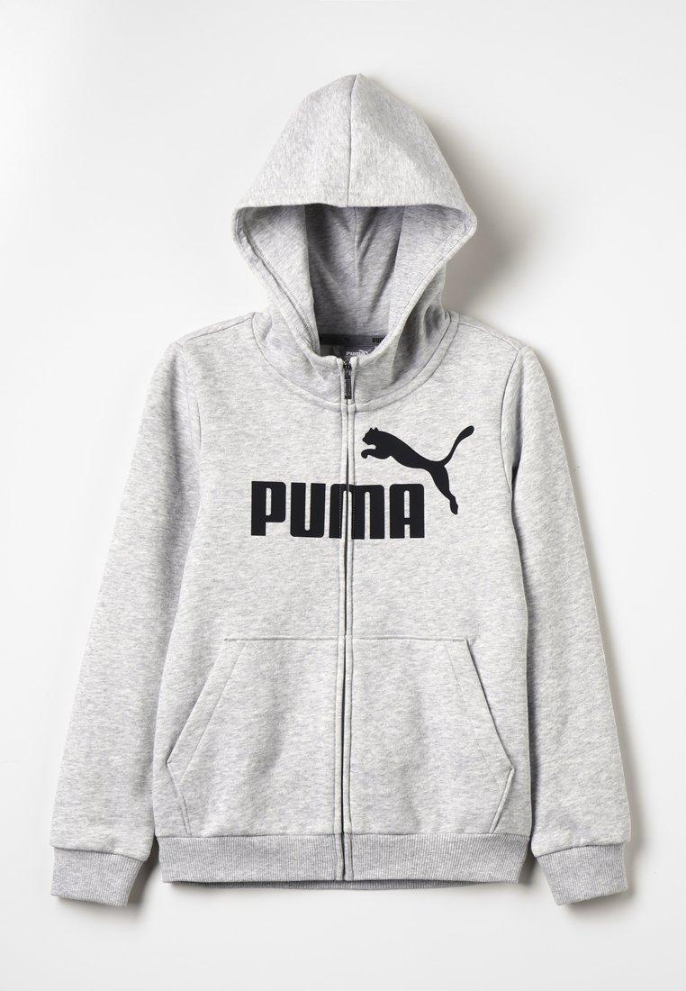 Puma - HOODED JACKET - Bluza rozpinana - light gray heather