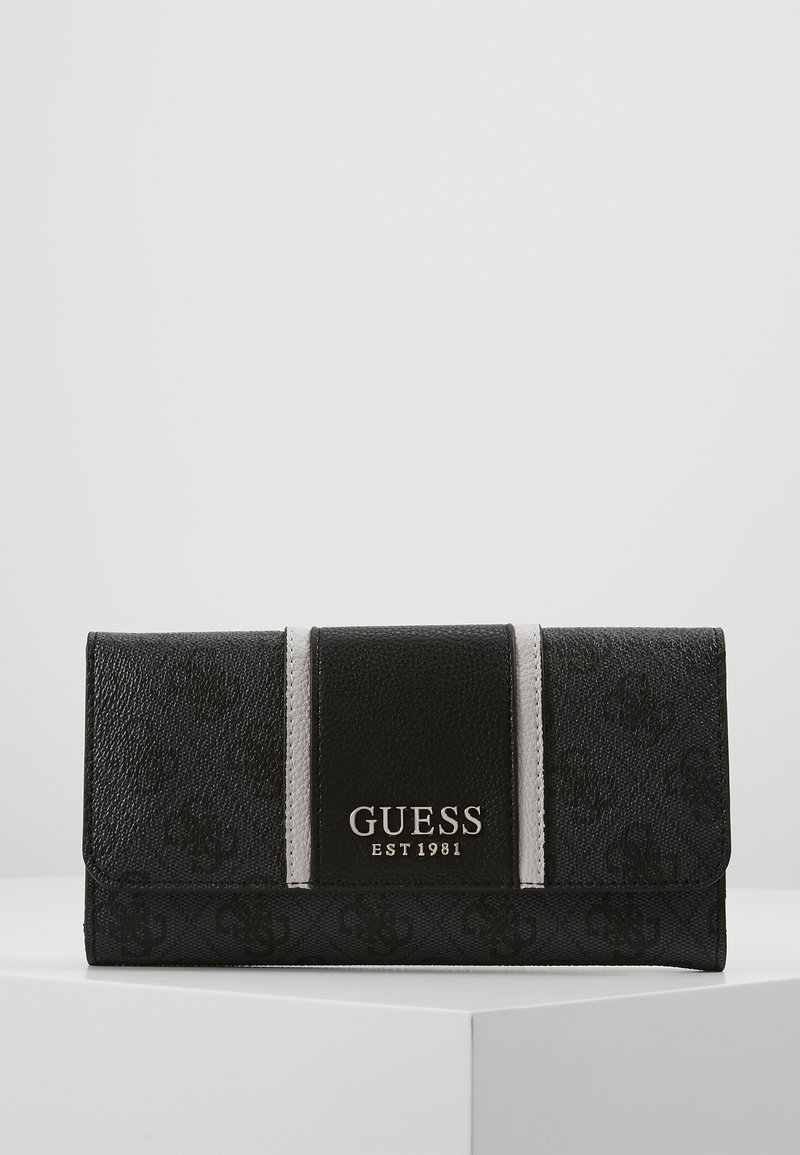 Guess - CATHLEEN POCKET TRIFOLD - Lommebok - coal