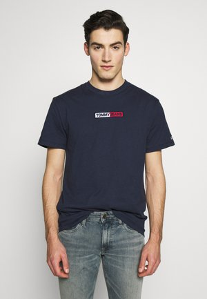 EMBROIDERED LOGO TEE - T-shirt con stampa - twilight navy