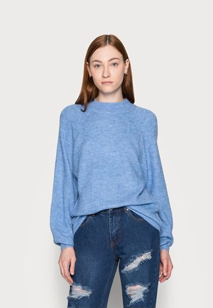 WAFFLE STITCH MOCK  AIRY - Jumper - chambray heather