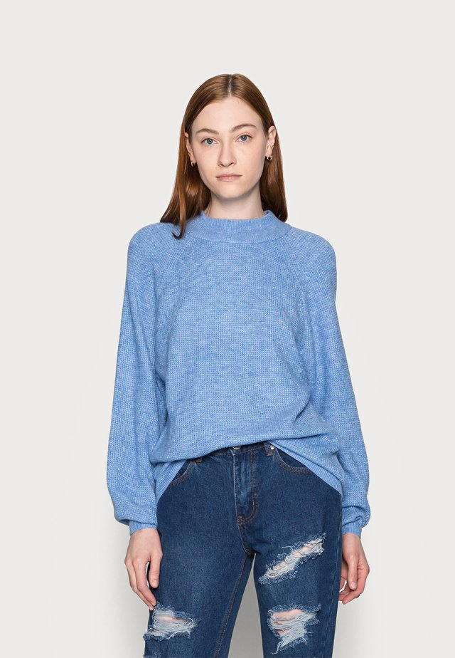 WAFFLE STITCH MOCK  AIRY - Pullover - chambray heather