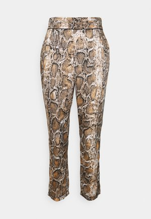 JULIA FASHIONISTA PANTS - Trousers - mottled brown