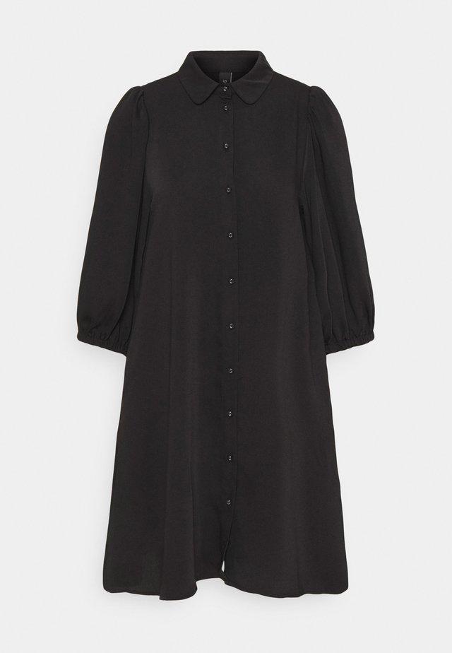 YASSOPHIA SOLID DRESS  - Shirt dress - black