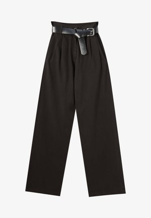 MIT HOHEM BUND - Trousers - black