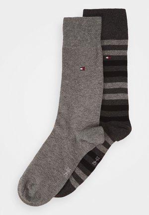 MEN DUO STRIPE SOCK 2 PACK - Socks - middle grey melange