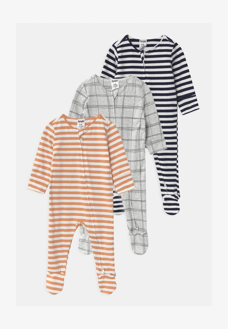 Cotton On - LONG SLEEVE ZIP 3 PACK UNISEX - Sleep suit - multi-coloured