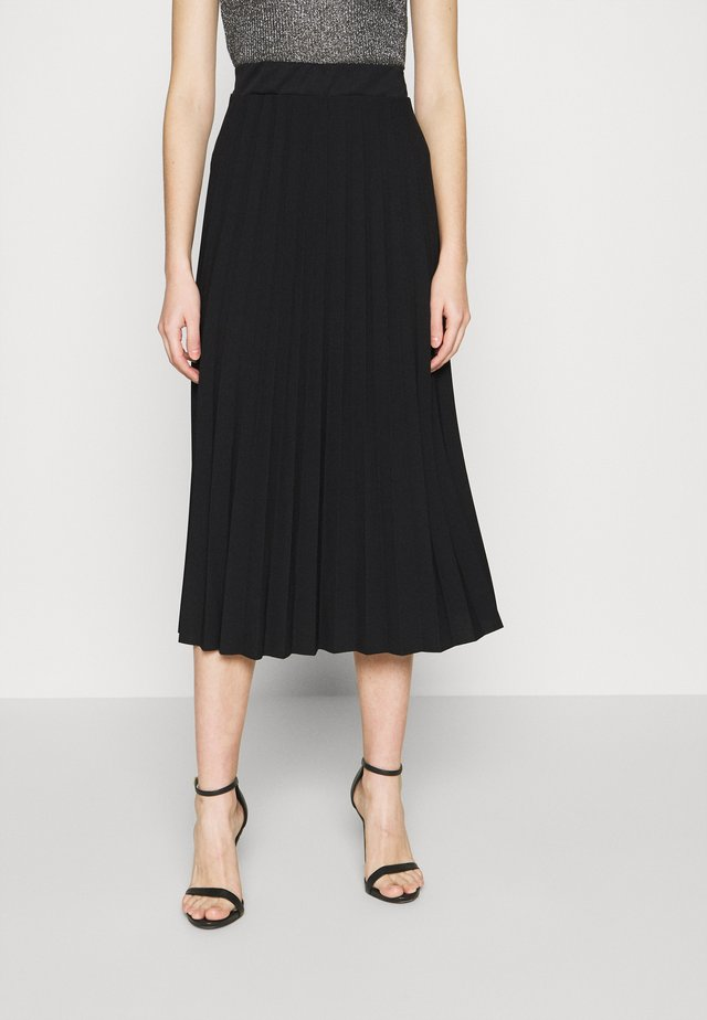 ADA PLEATED SKIRT - Jupe trapèze - black