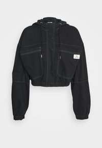 BDG Urban Outfitters - JARED HOODED JACKET - Denim jacket - black - 5