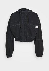 JARED HOODED JACKET - Kurtka jeansowa - black