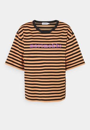 ENSILUMI LOGO TASARAITA - Print T-shirt - dark orange/black/purple