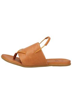 Sandály s odděleným palcem - cognac 03