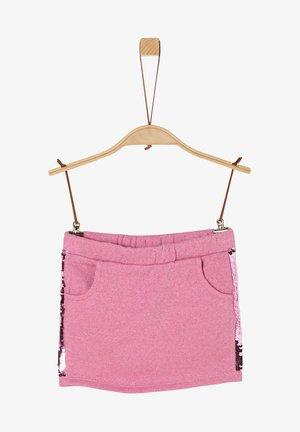 Mini skirt - light pink melange