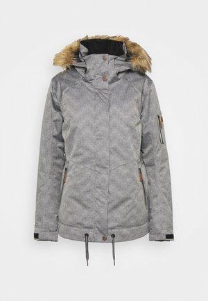 MEADE - Snowboard jacket - true black/white
