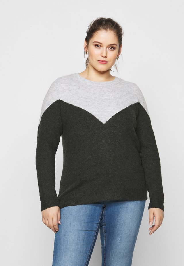 VMPLAZA - Maglione - light grey melange/peat melange