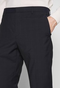 Calvin Klein Tailored - WINDOW CHECK SLIM PANTS - Kalhoty - blue - 4