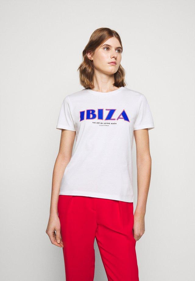 TIBIZ - Print T-shirt - ecru