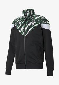 Puma - BMG ICONIC MCS FOOTBALL  - Training jacket - black-white-amazon green - 0