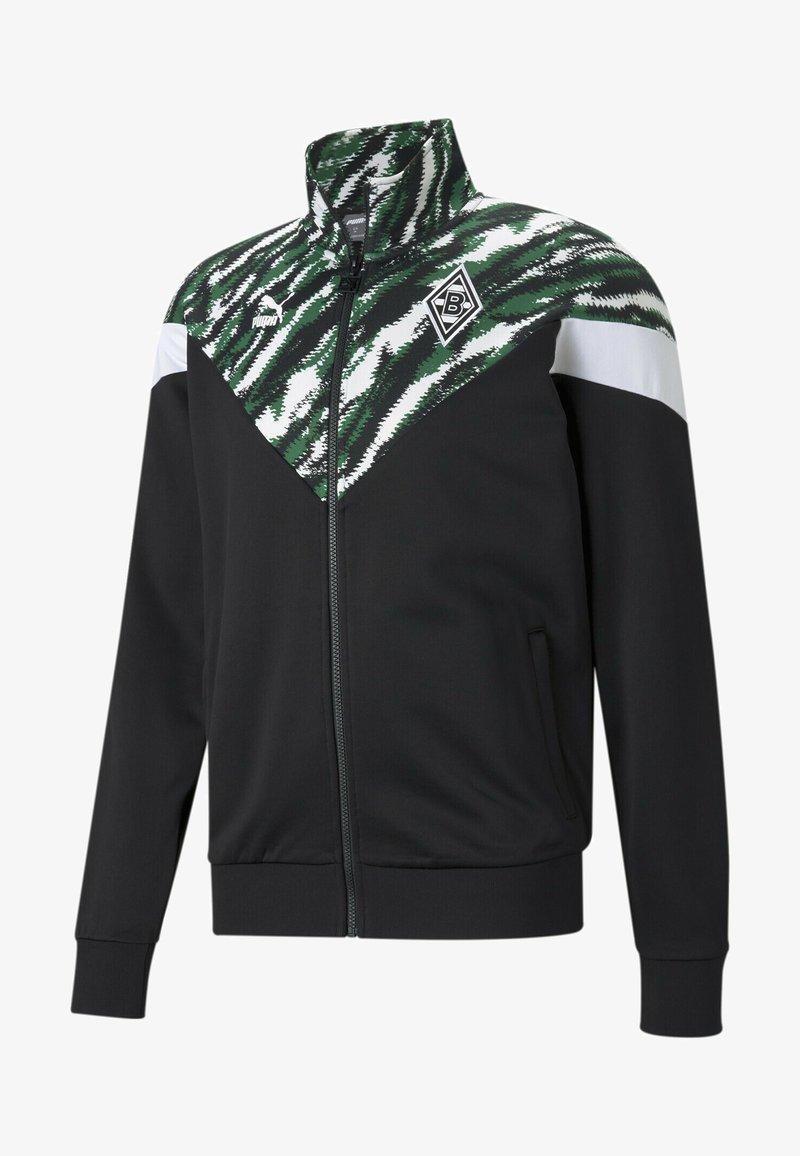 Puma - BMG ICONIC MCS FOOTBALL  - Training jacket - black-white-amazon green