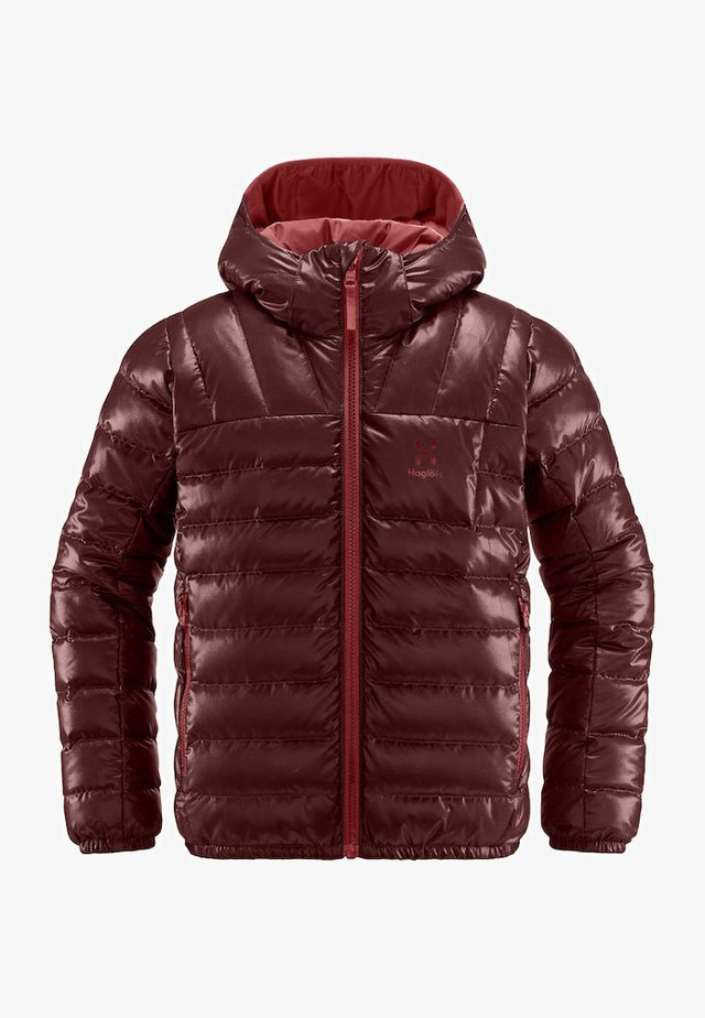BIVVY  - Down jacket - maroon red/brick red