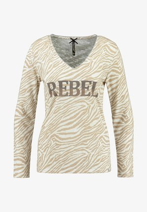 REBEL - Long sleeved top - sand