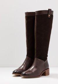 Anna Field - LEATHER BOOTS - Støvler - dark brown - 4